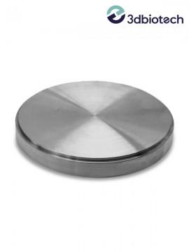 Pieza de fresado biocompatible de grado 5, titanio puro para técnicas de porcelana fundida a metal (PFM), DIN EN ISO 22674, tipo